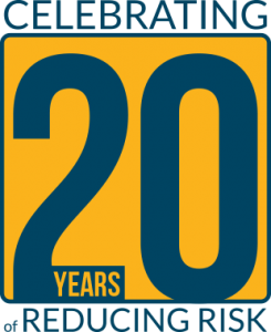 novatek international 20th anniversary badge